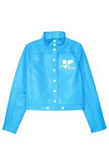Голубая куртка из хлопка Courreges