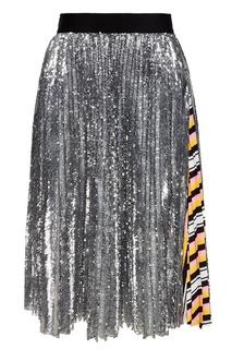 Плиссированная юбка в пайетках Msgm