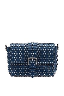Синяя сумка с цветочной аппликацией RED Valentino