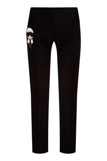 Черные джинсы с аппликацией Fendi