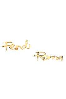 Запонки в виде надписей Fendi