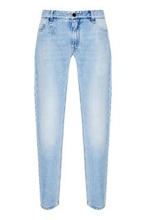 Голубые джинсы Fendi
