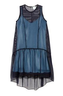 Платье из полупрозрачного шелка The Dress
