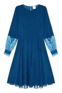 Синее платье из шелка The Dress