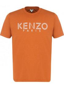 Хлопковая футболка с логотипом бренда Kenzo