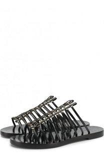 Кожаные сабо с металлической отделкой Alaia