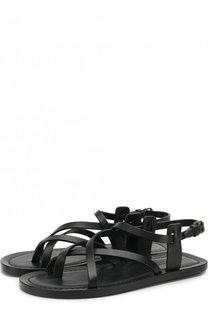 Кожаные сандалии Nu Pieds Saint Laurent