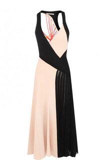 Платье-миди с глубоким V-образным вырезом Roberto Cavalli