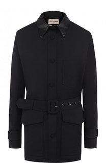 Куртка с поясом и накладными карманами Roberto Cavalli