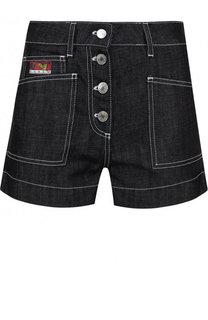Джинсовые мини-шорты с контрастной прострочкой Kenzo