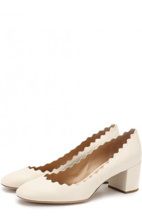 Кожаные туфли Lauren на устойчивом каблуке Chloé