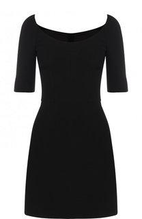 Однотонное мини-платье из шерсти Dolce & Gabbana