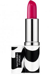 Помада для губ Marimekko Pop Lip Colour + Primer, оттенок 10 Punch Pop Clinique