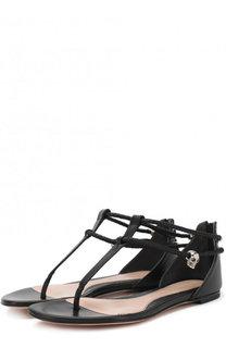 Кожаные сандалии с подвеской Alexander McQueen