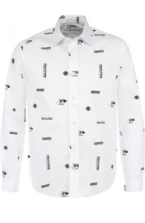 Хлопковая рубашка с принтом Kenzo