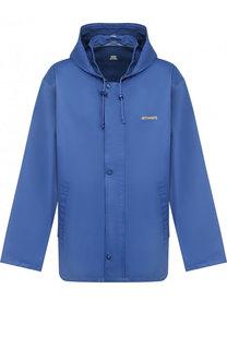 Хлопковая куртка с капюшоном и логотипом бренда Vetements