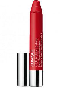 Увлажняющий блеск-бальзам для губ Chubby Plump&Shine, оттенок 02 Super Scarlet Clinique