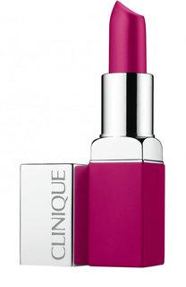 Матовая помада для губ  Pop Matte Lip Colour & Primer, оттенок Shock Pop Clinique