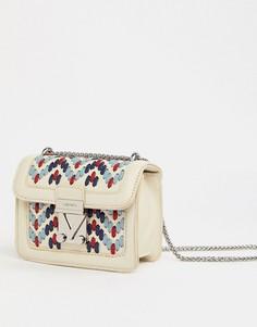 Маленькая сумка через плечо Valentino by Mario Valentino - Белый