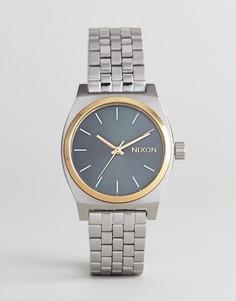 Серебристые часы-браслет Nixon A1130 Medium Time Teller - Серебряный