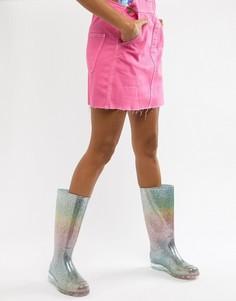 Разноцветные резиновые сапоги с блестками ASOS DESIGN Gransta - Мульти