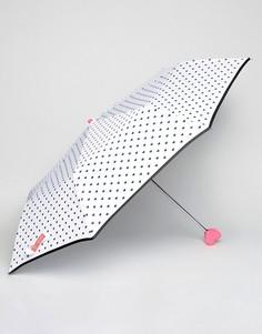Белый зонт с синими сердечками Bombay Duck Confetti - Белый