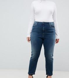 Выбеленные синие узкие джинсы в винтажном стиле с завышенной талией ASOS DESIGN Curve Farleigh - Синий