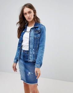 Джинсовая куртка с необработанным краем Pepe Jeans - Синий