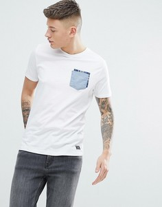 Футболка с карманом в клетку Brave Soul - Белый