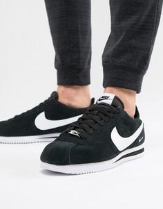 Черные замшевые кроссовки Nike Cortez 902803-003 - Черный