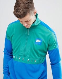 Синяя ветровка с короткой молнией Nike Air 918324-368 - Синий
