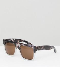 Солнцезащитные очки с плоским верхом South Beach - Черный
