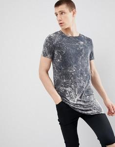 Серая длинная футболка ASOS DESIGN - Серый
