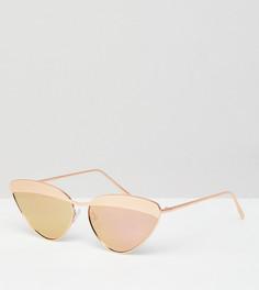 Солнцезащитные очки кошачий глаз в оправе цвета розового золота ASOS DESIGN - Золотой