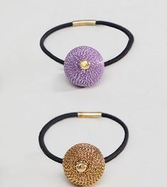 Набор из 2 резинок для волос с шарами цвета металлик ASOS DESIGN - Мульти