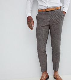 Зауженные брюки с узором гусиная лапка Heart & Dagger Wedding - Розовый