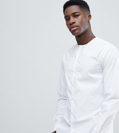 Приталенная рубашка без воротника Noak - Белый