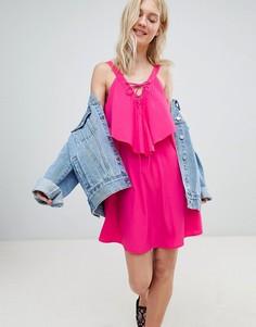 Платье со шнуровкой Vero Moda - Фиолетовый
