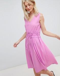 Платье миди с поясом Vero Moda - Фиолетовый
