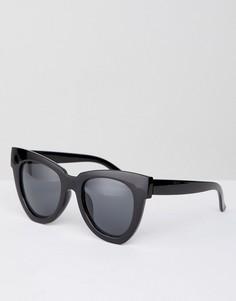 Черные солнцезащитные очки в крупной оправе Glamorous - Черный
