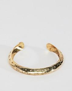Фактурный браслет-манжета ASOS DESIGN - Золотой