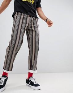 Прямые серые брюки с ацтекским принтом и эластичным поясом ASOS DESIGN - Серый