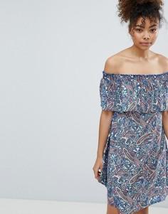 Пляжное платье с открытыми плечами и принтом пейсли Esprit - Мульти