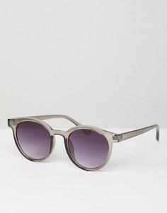 Серые круглые солнцезащитные очки AJ Morgan - Серый