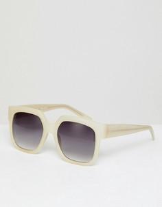 Белые большие солнцезащитные очки в квадратной оправе AJ Morgan - Белый