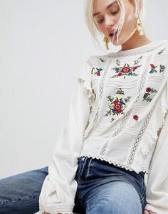 Свободная блузка с вышивкой Free People The Amy - Белый