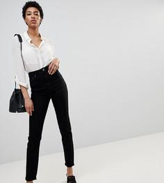 Черные джинсы слим с завышенной талией ASOS DESIGN Tall Farleigh - Черный