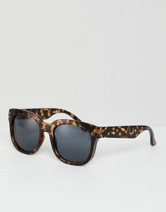 Квадратные солнцезащитные очки в черепаховой оправе ASOS DESIGN - Коричневый