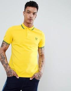 Желтое поло Fred Perry - Рыжий