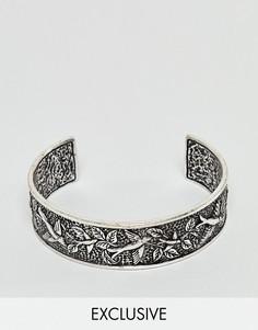 Серебристый браслет с гравировкой Reclaimed Vintage эксклюзивно для ASOS - Серебряный